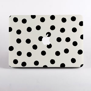 Painted Dots Print Hard Case For Mac Book - laptop bags & cases