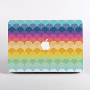 Rainbow Print Hard Case For Mac Book - rainbows