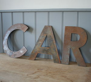 Large Metal Letters - decorative letters