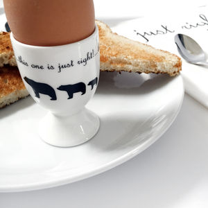 Goldilocks And The Three Bears Egg Cup - egg cups & cosies