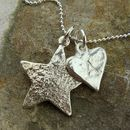 Personalised Solid Silver Star Charm Necklace