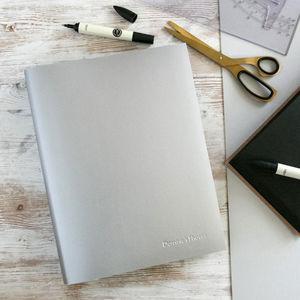 Personalised Blackboard A4 Leather Photo Album