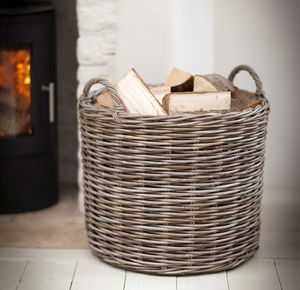 Giant Rattan Log Basket - storage & organisers