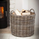 Giant Rattan Log Basket