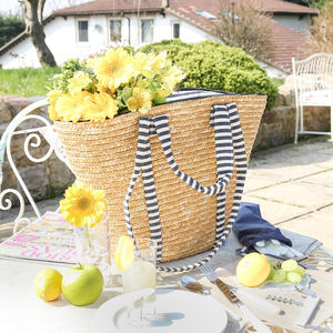 Abella Nautical Carry Picnic Bag For Four - picnic hampers & baskets