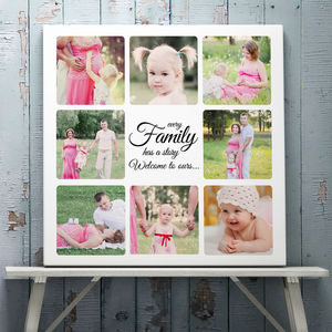 Personalised Message Family Collage Canvas Or Print - people & portraits