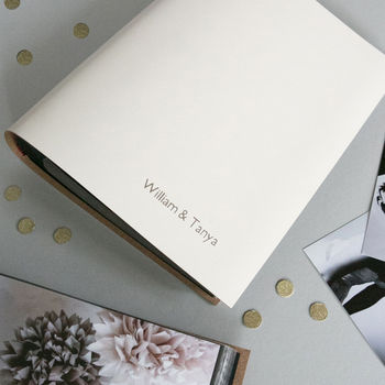 Personalised Leather Slip In Wedding Photo Album