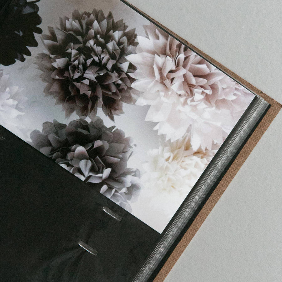Personalised Leather Slip In Wedding Photo Album By Begolden