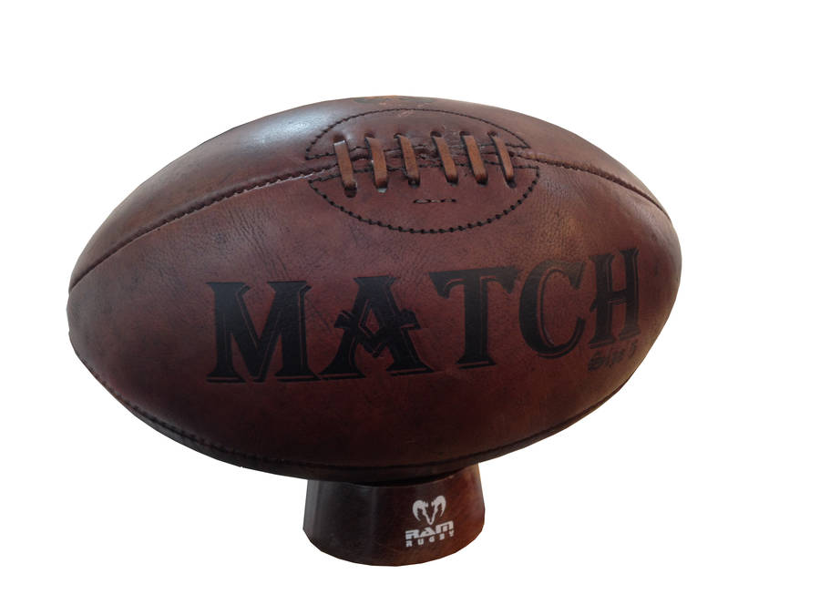 Ram Rugby Vintage Leather Rugby Ball
