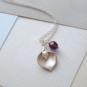 Calla Lily Necklace - women's jewellery