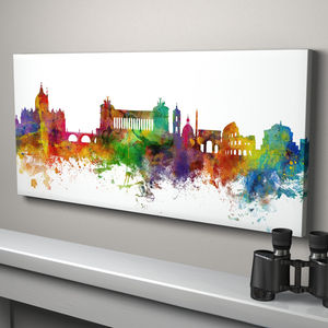 Rome Skyline Cityscape Italy Art Print - architecture & buildings