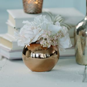 Floral Rose Gold Globe - flowers & plants