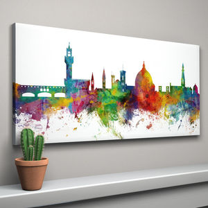 Florence Italy Skyline Cityscape - canvas prints & art