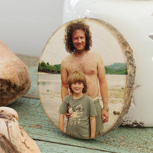 Personalised Favourite Photo Print On Wood - gifts for fathers