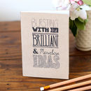 Bursting With Brilliant Ideas Notebook