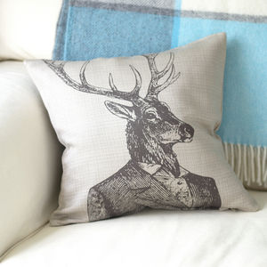 Dapper English Stag Cushion - new in baby & child