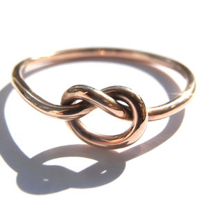 Rose, Yellow Or White Gold Love Knot Ring - women's jewellery