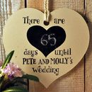 Personalised Days To Our Wedding Sign
