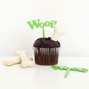 'Woof!' Dog Birthday Cake Toppers - kitchen accessories