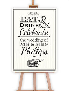 Eat Drink And Celebrate Welcome Sign - outdoor decorations