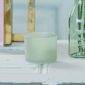 Frosted Glass Candle Holder - kitchen