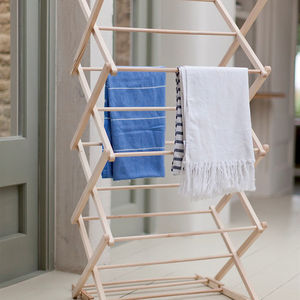 Wooden Clothes Horse - laundry room