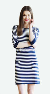 Breton Cotton Knit Summer Dress By Ronit Zilkha