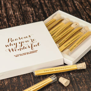 Personalised Reasons Why You're Wonderful - 1st anniversary: paper