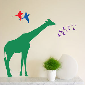 Individual Safari Animal Wall Stickers New Sizes