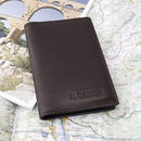 deluxe passport wallet in deep brown leather