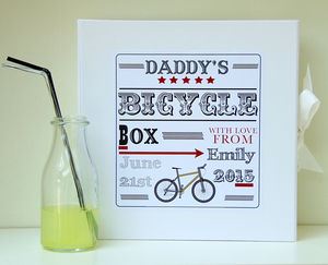 Father's Day Gift | Daddy's Bike Box | Keepsake Box