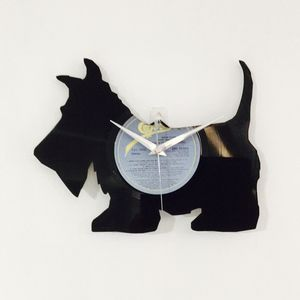 Scotty Dog Vinyl Record Clock