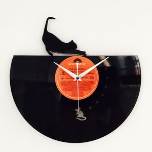 Cat And Mouse Vinyl Record Clock