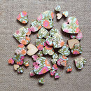 Love Scatter Hearts With Floral Paper