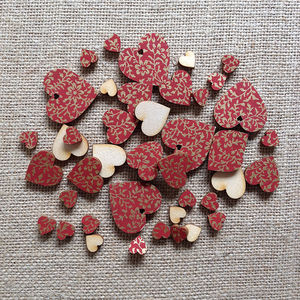 Vintage Love Scatter Hearts - occasional supplies