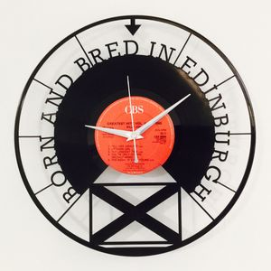 'Born And Bred In Edinburgh' Vinyl Record Clock - clocks