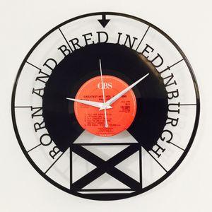 'Born And Bred In Edinburgh' Vinyl Record Clock - clocks