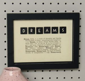 Dictionary Definition 'Dreams' Tile Picture
