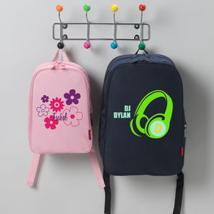 Child's Personalised Name Logo Rucksack