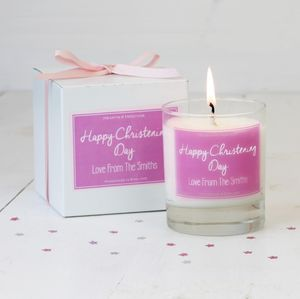 Personalised Christening Candle Gift - candles