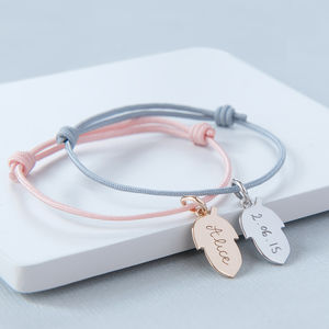 Personalised Acorn Bracelet - christening jewellery