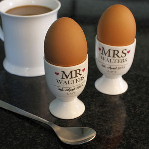 Personalised Couples Egg Cup - dining room