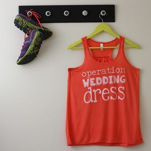 'Operation Wedding Dress' Racerback Top - women's fashion sale