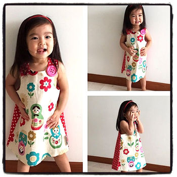 Jessie Pinafore Dress In Babushka Brights