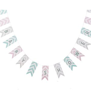 Baby Shower Chevron Bunting