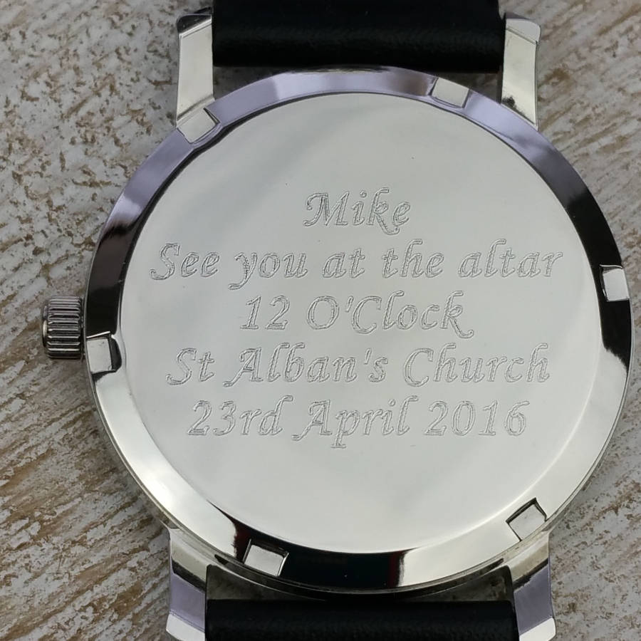 Watch Engraving Ideas For Husband On Wedding Day