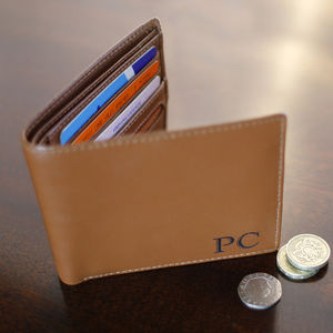 Personalised Brown Initial Wallet - wallets & money clips