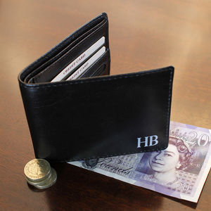 Personalised Initial Wallet - gifts for fathers