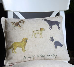 Personalised Country Dogs Cushion