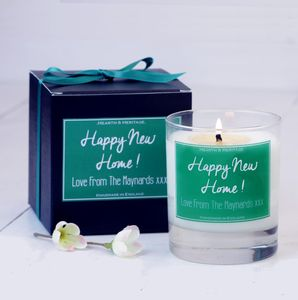 Personalised 'New Home' Scented Candle - candles & candlesticks